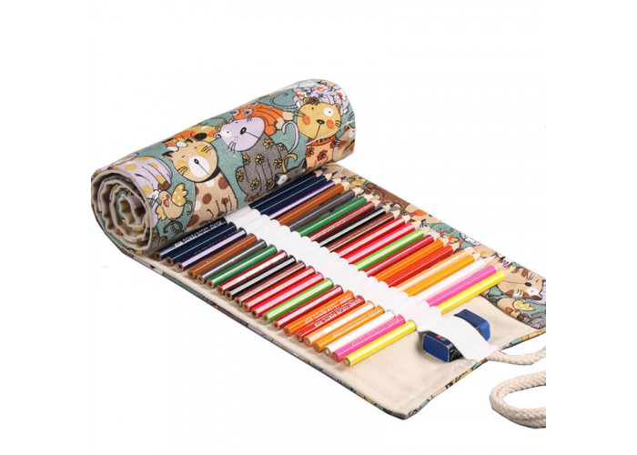 """Pencil box roll Neoline for pencils 48 pc. without filling """"Cats"""""""