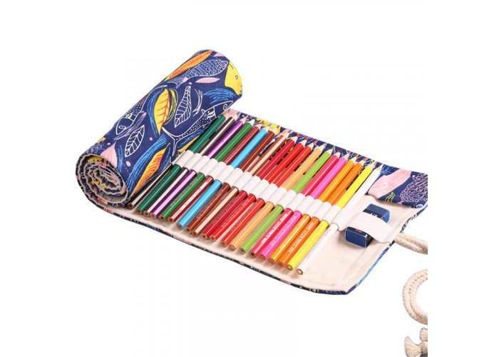 """Pencil box roll Neoline for pencils 48 pc. without filling """"Fish"""""""