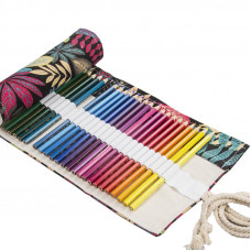 """Pencil box roll Neoline for pencils 48 pc. without filling """"Leafs"""""""